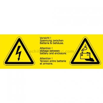 Warnschilder als Kombischild - Warnzeichen mit Symbol & Text